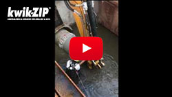 HD on semi elliptical FRP pipe for sewer replacement Los Angeles