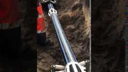Inserting 300m of 125PE into a 330 AB gas main